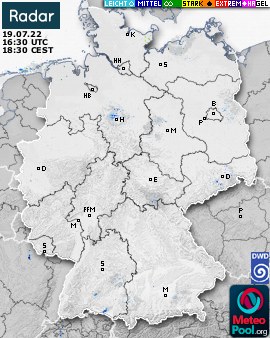 Weather radar for Germany