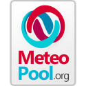 Meteopool logo, with text, transparent background, 125x125, light version