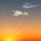 Weather graphics for dawn time, for cloudage 1/8, sonnig