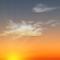 Wettergrafik für Dämmerung für Bedeckungsgrad 2/8, heiter