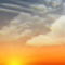 Wettergrafik für Dämmerung für Bedeckungsgrad 3/8, leicht bewölkt