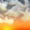 Weather graphics for dawn time, for cloudage 4/8, partly cloudy