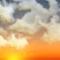 Wettergrafik für Dämmerung für Bedeckungsgrad 4/8, wolkig
