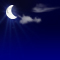 Weather graphics for night time, for cloudage 1/8, sonnig