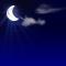 Wettergrafik für Nacht/nachts für Bedeckungsgrad 1/8, sonnig