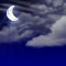Weather graphics for night time, for cloudage 3/8, mostly sunny