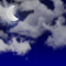 Weather graphics for night time, for cloudage 4/8, partly cloudy