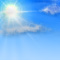 Weather graphics for daytime, for cloudage 2/8, fair