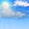 Weather graphics for daytime, for cloudage 3/8, mostly sunny