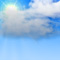 Weather graphics for daytime, for cloudage 4/8, partly cloudy