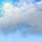 Weather graphics for daytime, for cloudage 5/8, mostly cloudy