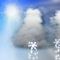 Weather graphics for daytime, for ww-Code 26 (Shower(s) of snow, or of rain and snow)