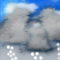 Weather graphics for daytime, for ww-Code 87 (Shower(s) of snow pellets or small hail, slight)