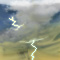 Weather graphics for daytime, for ww-Code 98 (Thunderstorm combined with dust/sandstorm)